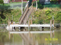 24 FOOT LONG BOAT DOCK & STAIRS