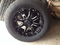 "20"" rim and tire package DEMO"" 6x 139.7"