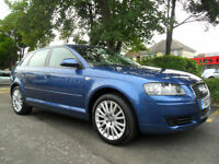 AUDI A3 2.0 TDI SPORTSBACK 2007 SE 79,000 MILES COMPLETE WITH M.O.T HPI CLEAR