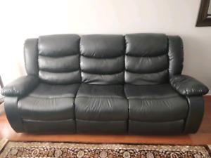 Faux Black Leather Sofa (free)