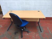 1600 x800mm Desk Workstations Beech