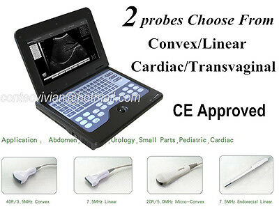 Contec Portable Ultrasound Scanner Laptop Machine2 Probe Cms600p2 Convexlinear