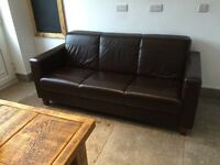 3 seater leather settee (from Barkers)