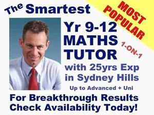 JUST 2 VACANCIES! 25yrs+ Professional Maths Tutor in Sydney Hills Castle Hill The Hills District Preview
