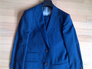 Short and skinny? Suit Supply Suit Pinstripe Blue