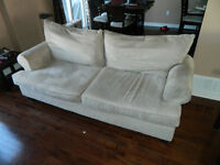 Couch and chaise lounge - beige
