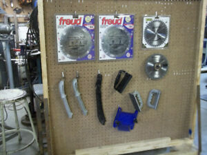Saw and dado blades plus accesories