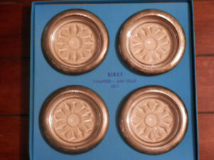 BIRKS 4 PIECE COASTER OR ASHTRAY SET