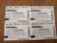 2 Alton towers tickets 21 may 2018