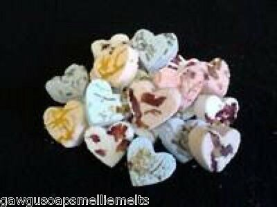 30 HANDMADE FIZZY BATH BOMB HEARTS/WEDDING FAVORS/BABY SHOWERS/GIFTS