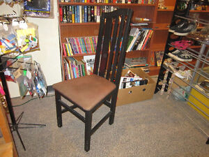 Wood Chair With Cushion Seating For Sale