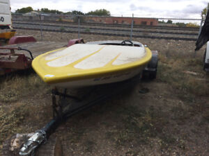 Jet boat with trailer