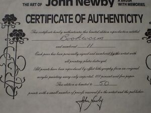 "John Newby - "" Bookworm "" -Artists Proof  Limited Edition Print Kitchener / Waterloo Kitchener Area image 5"