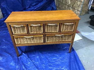 Wicker 6 drawer Unit