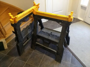 x2 Folding Sawhorse with Extra Supports for 2x4's