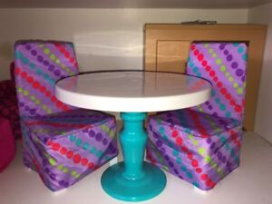 American Girl Table and 2 Chairs