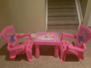 Toddler Princess Table and Chair Set