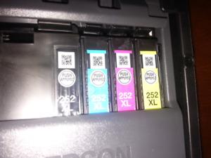 Epson 252XL ink cartridges