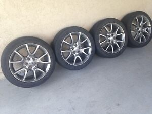 Set of 2013 Dodge Dart mag wheels with tires