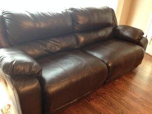 Ashley Furniture ~ Leather Reclining Sofa Sarnia Sarnia Area image 4