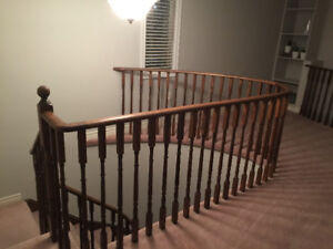 Oak wood stair pickets and wood posts