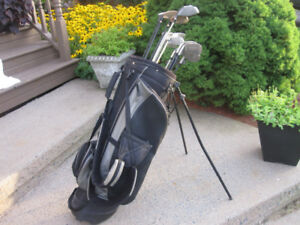 Men's Right Hand 14-pc Golf Clubs Set & Golf Stand Bag