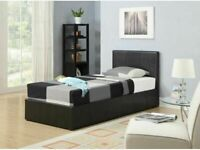 💖🔴Ideal furniture shop🔵💖(3ft) Single Size Leather Storage Bed Frame With Opt Mattress