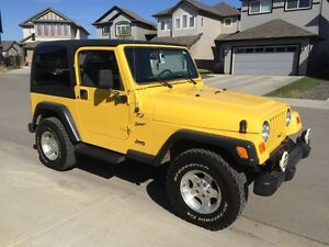 2002 Jeep TJ Sport with hard and soft tops