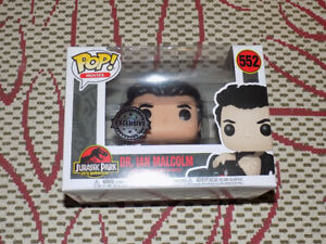 FUNKO, POP DR. IAN MALCOLM, EXCLUSIVE, MOVIES #552, VINYL FIGURE