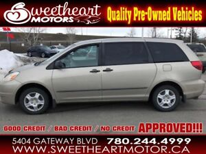 2004 Toyota Sienna 4dr CE...EVERYONE IS APPROVED ....oac