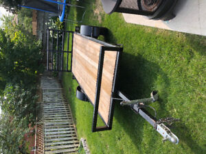 5'x12' flat bed with ramp