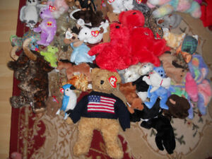 100+ Beanie Babies +other stuffed toys.
