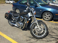 Beautiful Silver Suzuki Boulevard