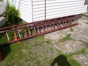 Early Red wooden 8 foot Ladder