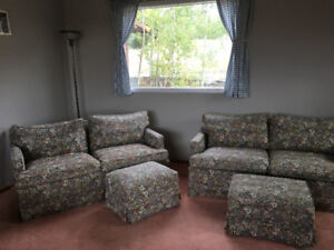 Matching love seat with foot rests $170