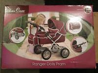 Silver Cross Ranger Dolls Pram for ages 3-7 *UNUSED*
