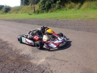 Gearbox / shifter kart rolling chassis (without engine)