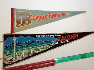 2 Vintage Calgary Tower - Calgary Alberta Collectable Penants