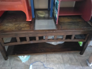 Coffee table + two end tables,  and kids chairs