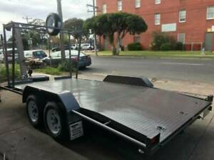 14x6'6 Tandem Beaver Tail With Tyre Rack | Geelong Trailers Sales