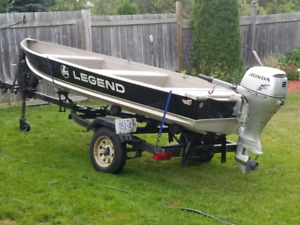 2017 legend 14ft with 2015 Honda 8hp low hours