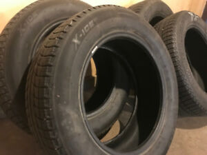 SUV winter Michelin X-Ice tires size 225/60 17 for sale!