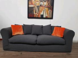 Loaf Bazaar 3 seater sofa in grey wool RRP £1800