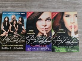 The first 3 books from the Pretty Little Liars saga by Sara Shepard