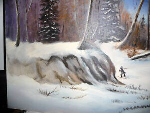 """Winter Trail"" Original Oil by S. Irsag Stratford Kitchener Area image 9"