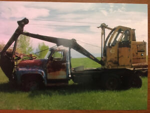1955 Ford cable Hoe truck for sale