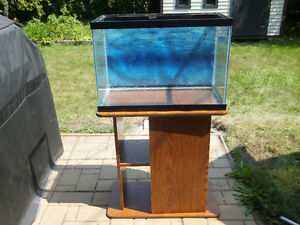 25 gallon aquarium and/or stand SPECIAL PRICE FOR THE STAND