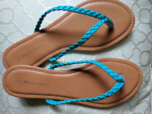 Brand New *Turquoise* Braided Thong Sandals- Size 8