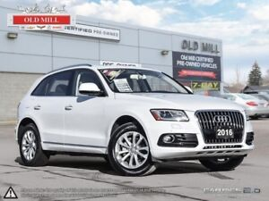 2016 Audi Q5 1 Owner, Accident Free, Roof, Navi, Leather