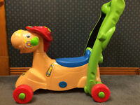 Various toys including 2-in-1 ride-on-rocker!